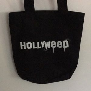 cannabis tote Hollyweed tote bag black canvas bag